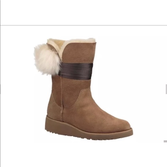 a4d6134667c Womens UGG Australia Brita Boots Chestnut 1018518 NWT